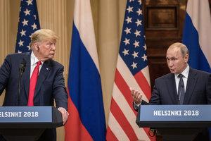 На встрече в Хельсинки Путин предложил Трампу провести референдум на Донбассе - Bloomberg