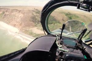 В штабе ООС показали зрелищное видео вертолетных учений на передовой