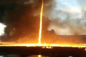 В Великобритании пронесся огненный торнадо - появилось видео