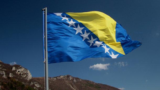 Флаг Боснии и Герцеговины. Фото: Travelask