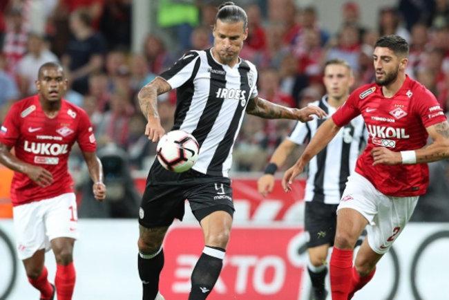 Греческий ПАОК в ответном матче третьего квалификационного раунда футбольной  Лиги чемпионов сыграл вничью со