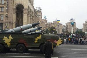 В Киеве репетируют парад, улицы в центре перекрыты