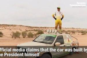 Президент Туркменистана испытал гоночный внедорожник: видео