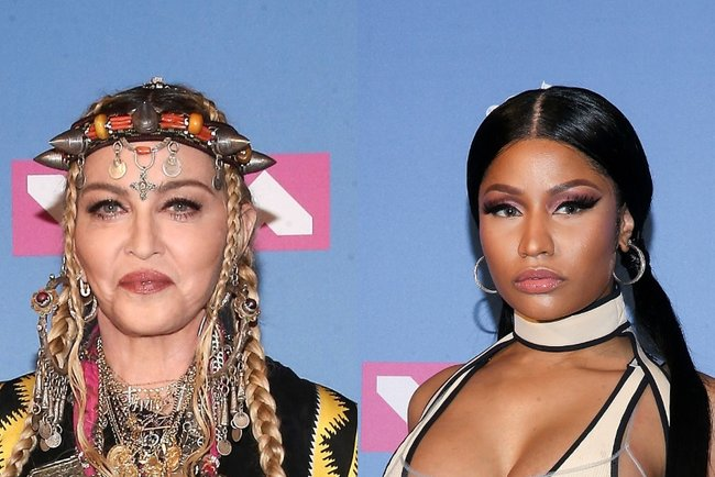Мадонна и Ники Минаж. Фото: AFP