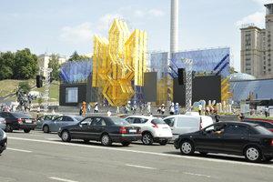 Киев готовится к параду: что  происходило на Крещатике сегодня днем