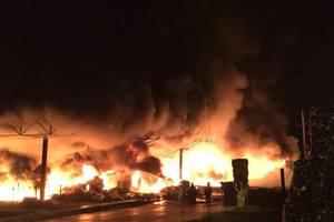 В Харьковской области на предприятии вспыхнул масштабный пожар: появились фото и видео