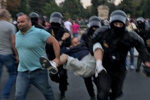 В Кишиневе полиция разогнала антиправительственный протест