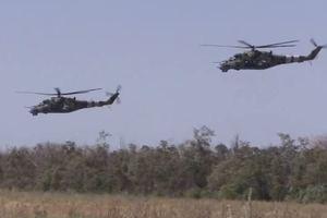 Ударили из танков и вертолетов: появилось эффектное видео учений ВСУ
