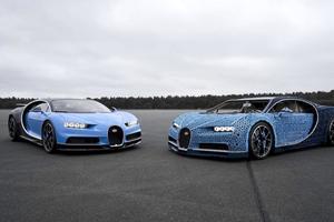 Видеошок: из конструктора Lego сделали Bugatti Chiron - и на нем можно ездить