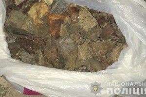 В Ровенской области полиция изъяла рекордную партию янтаря