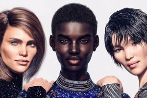 Будущее наступило: виртуальные модели в новой рекламе Balmain