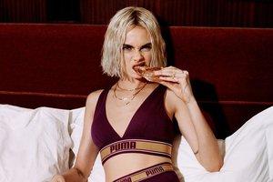Кара Делевинь примерила белье из новой коллекции Puma