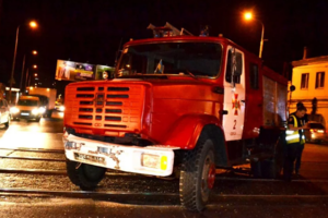 В Одессе пожарная машина попала в ДТП по дороге на вызов