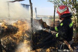 В Кировоградской области при тушении пожара спасатели нашли тело четырехлетнего ребенка