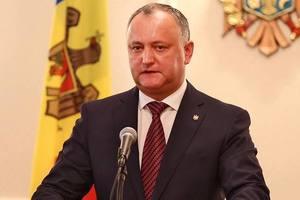 Додон анонсировал масштабные протесты в Молдове
