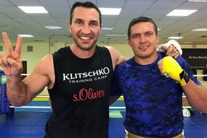 Александр Усик провел спарринг с Владимиром Кличко