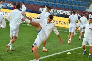 Сборная Украины провела тренировку накануне матча с Чехией