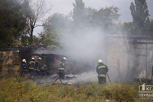 В Кривом Роге из-за мусора вспыхнул пожар