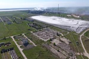 Химическая катастрофа в Крыму: опубликовано видео из эпицентра