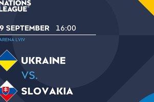 Онлайн матча Украина - Словакия в Лиге Наций: появились стартовые составы