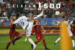 Ибрагимович забил невероятный гол в США, он стал для него 500-м в карьере