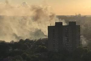У Шевченківському районі Києва спалахнула масштабна пожежа