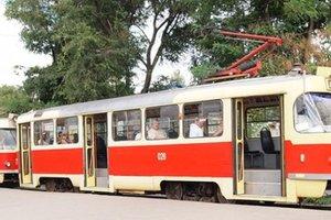 В Одессе на ходу загорелся трамвай