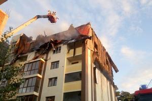 Пожарные ликвидировали огонь в новостройке Шевченковского района