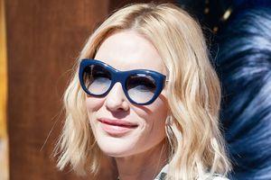В клечатом костюме и очках: новый стильный образ Кейт Бланшетт