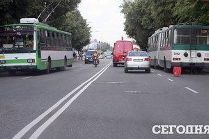 В Украине разрешили сужать полосы движения на дорогах