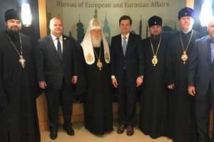 Патриарх Филарет посетил Госдепартамент США