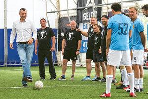 Виталий Кличко принял участие в дружеском футбольном матче, прошедшем в рамках фестиваля Muromets Fest