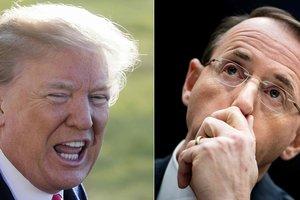 Дональд Трамп и Род Розенштейн, фото AFP