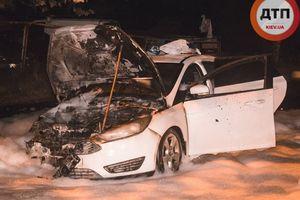 Киевлянин из-за неразделенной любви сжег на стоянке чужой Ford