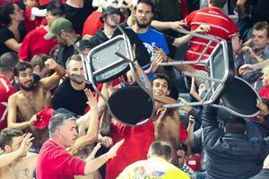 В Бельгии произошла жестокая драка на матче Лиги чемпионов