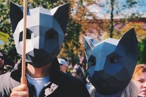 В Украине прошел марш в защиту прав животных