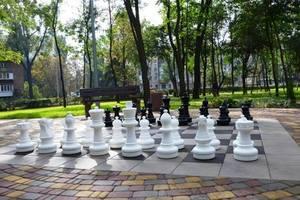В обновленном Сырецком парке можно поиграть огромными шахматами