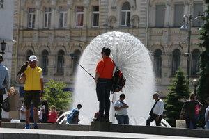 В Киеве отключили все фонтаны