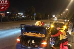Таксисты устроили ДТП в разных районах Киева