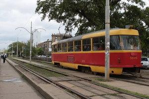 В Киеве временно заблокировано движение скоростного трамвая
