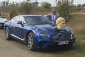 Ведущий автошоу The Grand Tour проехался по Грузии с головой Сталина на капоте Bentley
