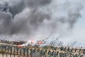 """Комиссия боевиков в """"ДНР"""" приехала с проверкой и по пьяни устроила пожар"""