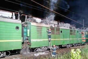 В Кировоградской области загорелся грузовой поезд
