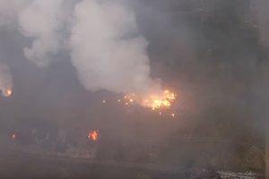 Взрывы на арсенале под Ичней: появилось видео с дрона