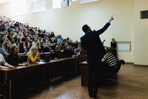 """Ведущий телеканала """"Украина"""" провел мастер-класс для киевских студентов"""