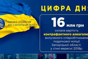 В Запорожье изъяли контрафактного алкоголя на 16 миллионов гривен