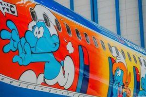 """Первый рейс Brussels Airlines в Борисполь совершит на самолете со """"Смурфиками"""""""