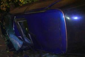 Смертельное ДТП под Харьковом: легковушка врезалась в забор и дерево