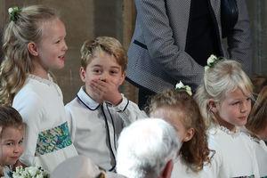 Принц Джордж пошалил на свадьбе у тети - забавные фото