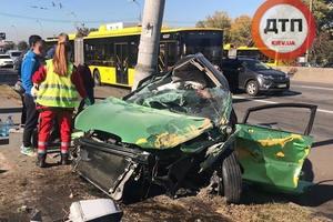 Ужасное ДТП в Киеве на Ватутина: двое погибли, трое в тяжелом состоянии